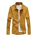 Men's Solid Long Sleeve Corduroy Shirt