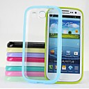 Transparent TPU Plastic Hard Case for  Samsung Galaxy S3 /I9300(Assorted Colors)