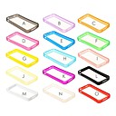 Solid Color TPU Soft Bumper Frame for iPhone 4/4S