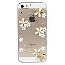Coque Transparente pour iPhone 5/5S, Fleurs 3D (Autres Coloris Disponibles)
