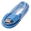1M Length Spinning Round USB 2.0 Charging and Sync Data Cable for Samsung and Other Cell Phones