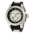 メンズビッグダイヤルデザインのラウンドダイヤルシリコンバンドクォーツアナログ腕時計(アソートカラー)