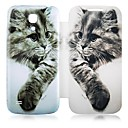 Cat patroon lederen Full Body Case voor Samsung Galaxy S4 Mini I9190