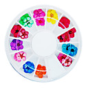 36PCS Colorful secas Nail Art Decoraciones Peach Blossom