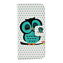 Pretty Owl Printing Design Full Body Case with Stand and Card Slot and Money Holder for iPhone 5/5S