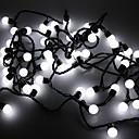 Waterproof 5M 3W 50-LED White Light Ball Shaped LED Strip Light (110V)