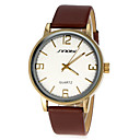 Men's Business Style Leather Band Quartz Wrist Watch (Assorted Colors)