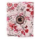 Lumineux de couleur de fleur de vigne Conception 360 degrés de rotation étui en cuir PU et stand pour iPad 2/3/4