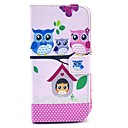 Colorful Owl Family Cartoon Pattern PU Leather Full Body Case with Card Slot Stand for Moto G