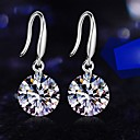 Cubic Zirconia And Metallic Earrings(1pair)