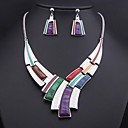 Women's Colored Gemstone (Necklace&Earrings) Jewelry Sets