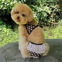 Cat / Dog Dress / Clothes/Clothing Black / White / Brown Summer Leopard / Zebra