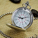 Miesten Mirror kierroksen Roomalainen Dial Vintage Quartz Analog Pocket Watch