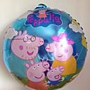 赤ちゃんの誕生日パーティーの漫画のバルーン18インチ全体ファミールのための10pcs/lot 45 * 45センチメートルペッパ豚ホイルバルーン