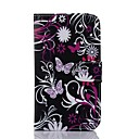 Black butterfly del modello Cuoio Custodia Full Body per Sony Xperia Z2
