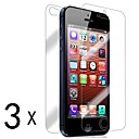 [3-Pack] Front and Back Retina Screen Protector for iPhone 5/5S