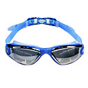 Unisex Silica Gel UV Protective Electroplating Swimming Goggles - Blue