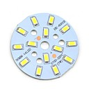 MaiTech 7W 705lm 14-SMD 5730 LED White Light Bulb aluminiumsplade