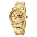 Men's Auto-Mechanical Luxury Gold Skeleton Steel Band Wrist Watch Cool Watch Unique Watch