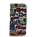 Graffiti Pattern Protective PU Leather Case with Card Holder Slots for Moto G