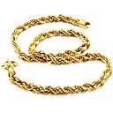 Personality Twist 18 K Gold Plating Man Necklace