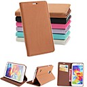 Pashm PU Leather Full Body Case with Stand and Card Slot for Samsung Galaxy S5 I9600 (Assorted Colors)