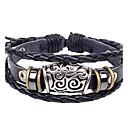 Buy Men's Popular Hollow Feature Leather Braided Bracelets