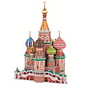 Buy Jigsaw Puzzles 3D Building Blocks DIY Toys Famous buildings Paper Brown Model & Toy