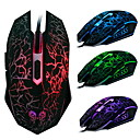 mouse da gioco cablata usb 2400 dpi 6d con colorate luce led luminosi
