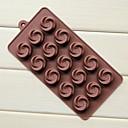 15-dołkowe wir róża kształt Formy ciasto czekoladowe lody, galaretki silikon 10,8 × 21,7 × 1,7 cm (8,5 × 4,3 × 0,7 icnh)