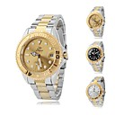 Men's Business Style Gold Case Steel Band Automatic Self Wind Wrist Watch (Assorted Colors)