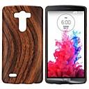 cuir motif de grain de bois, recouvert étui rigide pour LG G3 d850