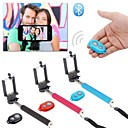 Extendable Self Handheld Monopod + Wireless Bluetooth Remote Shutter Control for IOS Android Phones