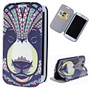 Cartoon Bear Pattern Full Body Case with Stand PU Leather Case for Samsung Galaxy S3 I9300