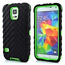 Tyre Tread Pattern Silicone Double Shells Design Case for Samsung Galaxy S5 I9600 (Assorted Colors)