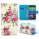 beau style portefeuille fleurs motif reposer texture croix pu étui en cuir pour Nokia Lumia 630