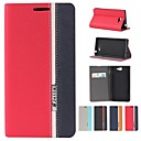 Assorted Color PU Leather Full Body Case with Stand and Card Slot for Sony Xperia M2 S50h (Assorted Colors)
