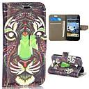 motif de tigre style tribal portefeuille de style stand de rabat magnétique pc + étui en cuir PU pour Huawei Ascend Y330