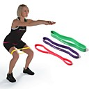 Buy Red 100% Natural Latex Resistance Band LOOP Fitness Exercise Pilates Yoga Tubing RYG