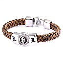 Buy Punk Style Dead Note L Brown Leather Bracelet(1 Pc)