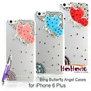 HOHONG ® Phone 6 Bling Cases Loving Rhinestones Butterfly Angel Crystal Case for  iPhone 6 plus 5.5