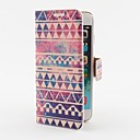 Aztec Stripe Pattern PU Leather Case with Stand and Card Slot for iPhone 6