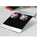 10pc/Bag 5.2x3.7cm Acrylic Earring Card Jewelry Packaging Card 6 Colors Optional