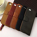 Wallet Style PU Leather Full Body Case with Stand and Card Slot for iPhone 4/4S (Assorted Color)