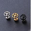 Buy European Fash Peace Symbol Titanium Steel Stud Earrings(Black,Silver,Gold) (1 Pc) Christmas Gifts