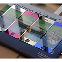 Protector de la pantalla de vidrio de 2-en-1 de los colores frontal y posterior templado para el iphone 5/5 s / 5C-(colores surtidos)