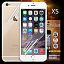 anteriore e posteriore della protezione dello schermo hd per iPhone 6 (5pcs)