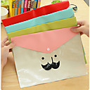 Cartoon Beard Transparent Waterproof Folder