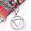 Buy Jewelry Inspired Naruto Hidan Anime Cosplay Accessories Necklace Black / Silver Alloy Male