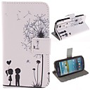 The Dandelion Lover Design PU Leather Full Body Protective Case with Stand for Samsung Galaxy S4 I9500